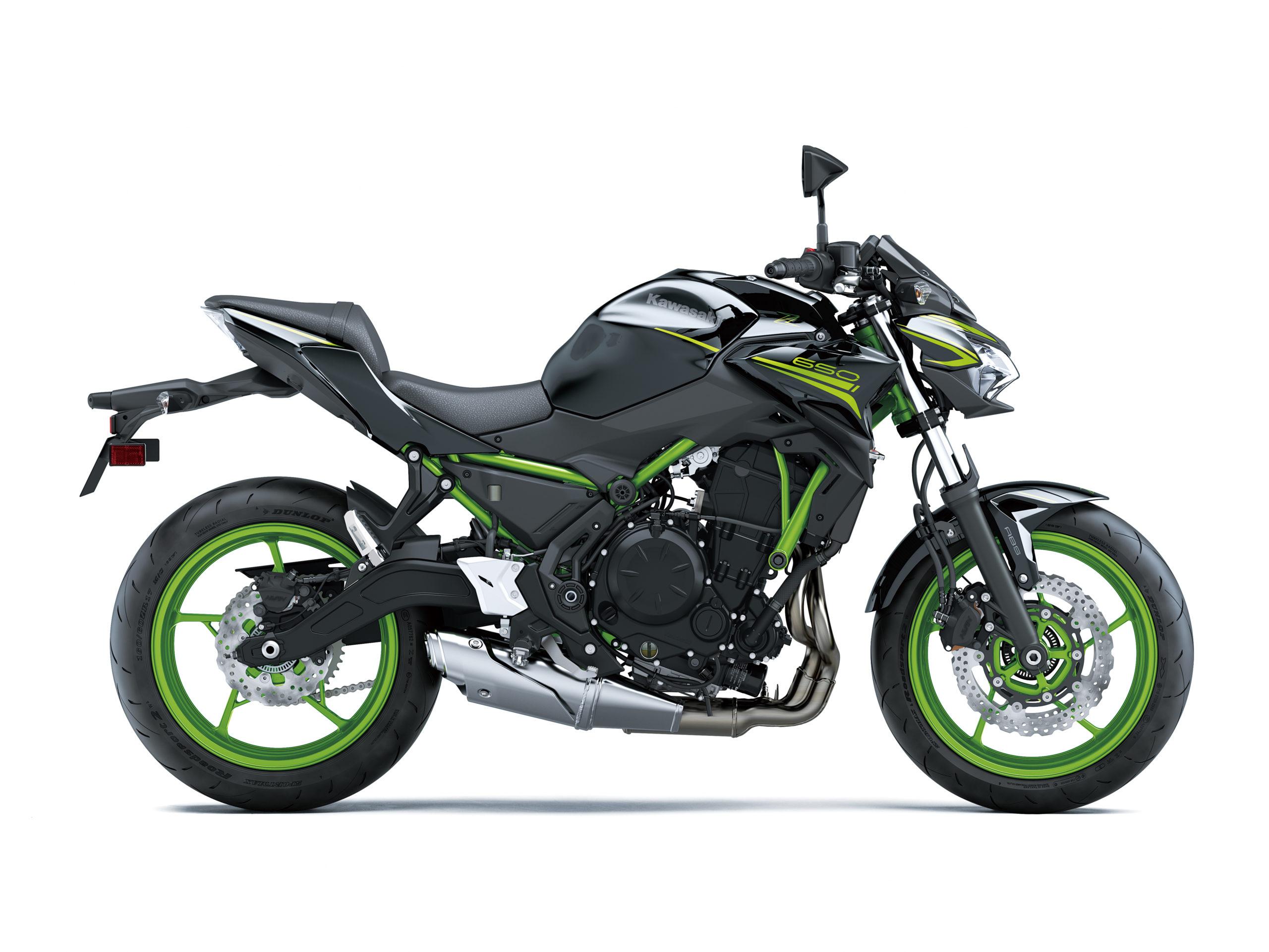 Z650 2021 noir et vert