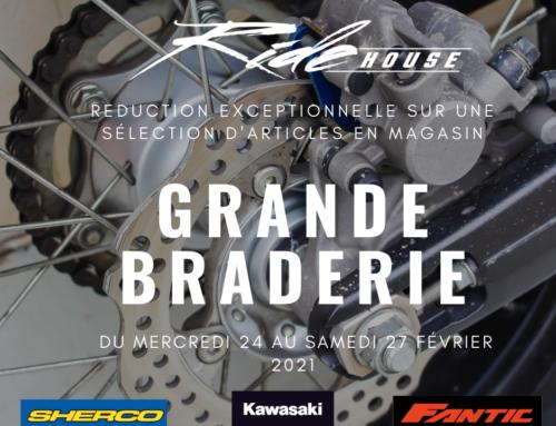 Ride House organise sa Grande Braderie !
